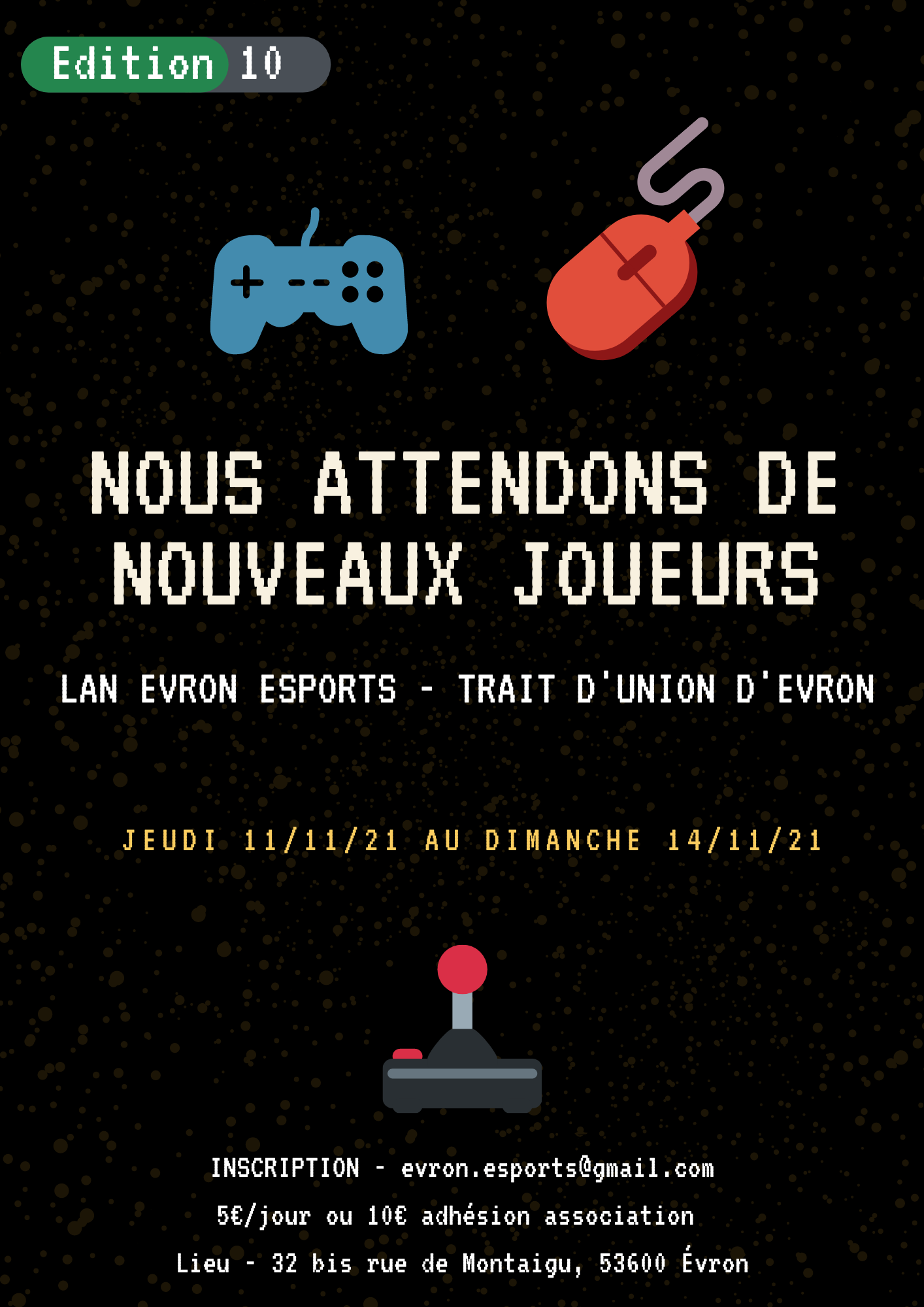 Affiche Evron eSports LAN